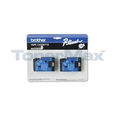 BROTHER P-TOUCH TAPE BLACK/CLEAR (1/2 X 50)
